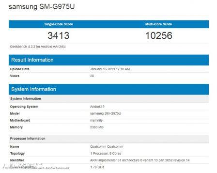 Étonnant si confirmé : un benchmark du futur Galaxy S10+ affiche des performances en deçà de l'iPhone X ... 2
