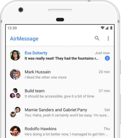 AirMessage offre iMessage à Android 2