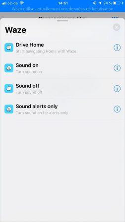 Waze désormais compatible avec les raccourcis Siri d'iOS 12: parlez, il vous guide 4