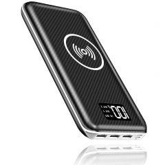 Promo flash: batterie grande capacité (24 000 mAh), recharge induction Qi, entrée Lightning et indicateur numérique de charge 3