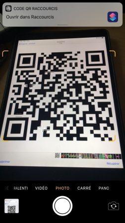 Peut-on lancer un Raccourci iOS avec un code QR? Oui, voici comment faire 3
