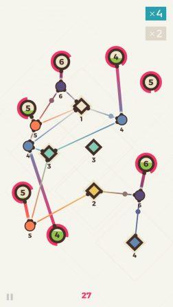 Le casse-tête zen Powernode invite à tisser son réseau sur iPhone et iPad 2