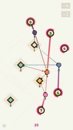 Le casse-tête zen Powernode invite à tisser son réseau sur iPhone et iPad 3