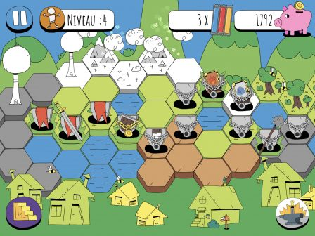 Combats, cartes et humour, le mélange réussi de Knights of the Card Table, nouveau jeu iPhone, iPad 4