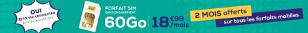 Màj - Promotion forfait: moins de 5 euros par mois pour illimité + 10 Go chez La Poste Mobile 3