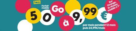 Promos forfaits: illimité + 50 Go chez Sosh et 100 Go chez Cdiscount Mobile pour 9,99€ mensuels 3