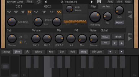 Après sa sortie iPad, le synthétiseur gratuit Synth One désormais compatible iPhone 2