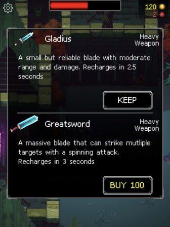 Test Immortal Rogue: maitrisez le glissé de doigt pour survivre dans un nouveau jeu d'action rétro iPhone, iPad 4