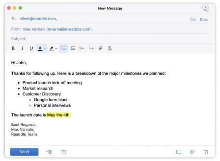 Des nouveautés pour l'édition de mails enrichis pour Spark sur iOS et Mac 3