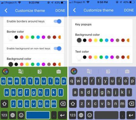 GBoard: le clavier iPhone tiers de Google prend des couleurs en passant à la V2 2
