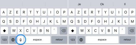 """iOS en pratique: comment retirer le bouton """"Micro"""" du clavier iPhone virtuel 4"""