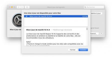 MacOS 10.14.4 est sorti avec iOS 12.2: voici les  nouveautés 2