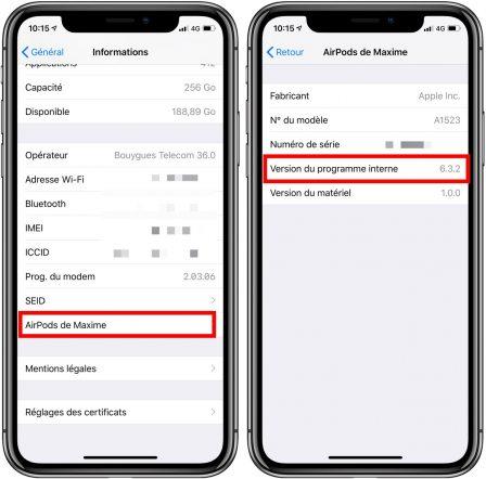 Les AirPods V1 ont aussi droit à une mise à jour avec iOS 12.2: comment voir si elle est appliquée 2