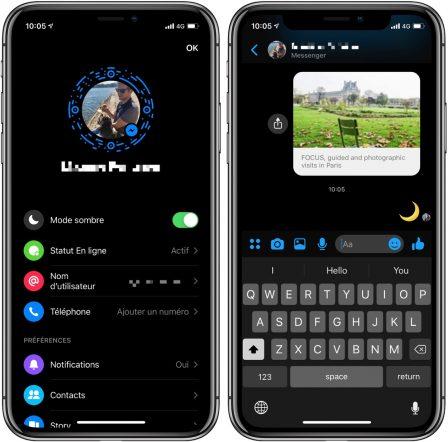 Voici comment activer le «mode sombre» sur Facebook Messenger iPhone 3