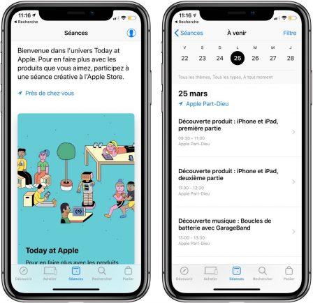 """La mise à jour de l'app Apple Store met en avant les sessions """"Today at Apple"""" pour faciliter la participation 3"""