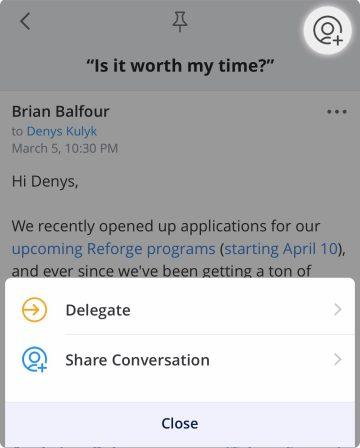 L'outil mail Spark Mac et iOS s'enrichit de la délégation d'emails pour une collaboration facilitée 3