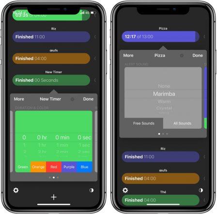 L'app Tidur Timers offre plusieurs minuteurs simultanés à l'iPhone, iPad et l'Apple Watch 2