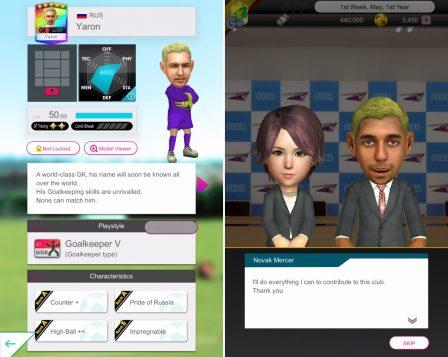 Sega mêle jeu de rôle et gestion de foot, dans Pocket Club Manager, nouveau jeu iPhone, iPad 2