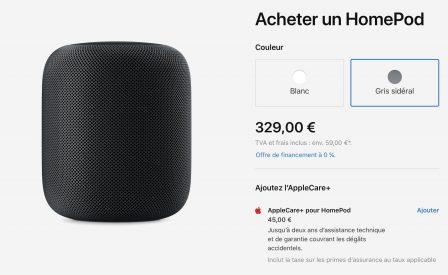 Baisse générale du prix de l'enceinte Homepod d'Apple 2