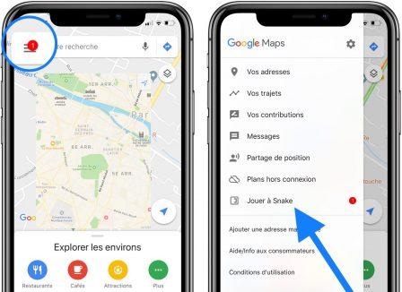 Le jeu classique Snake a envahi Google Maps: comment jouer sur iPhone 2