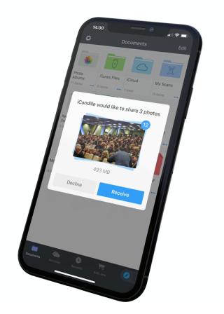 L'app Documents se dote du transfert de fichier entre machines iOS: FileDrop 3