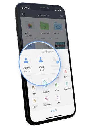 L'app Documents se dote du transfert de fichier entre machines iOS: FileDrop 2