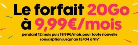 Nouvelle promo forfait Sosh: voix et messages illimités + 20 Go de data à 10 euros par mois 2