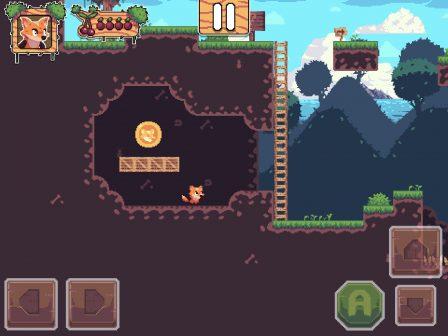 Test Foxyland 2: belle aventure de plateforme 2D rétro, en solo ou à 2 sur iPhone et iPad 4