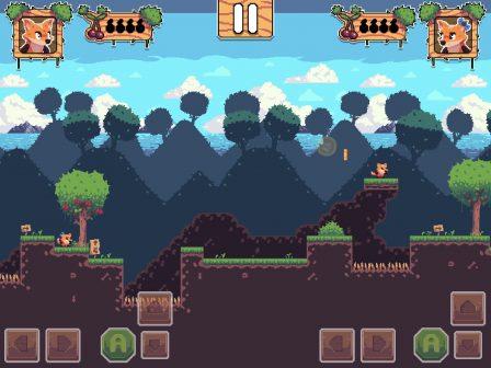 Test Foxyland 2: belle aventure de plateforme 2D rétro, en solo ou à 2 sur iPhone et iPad 2