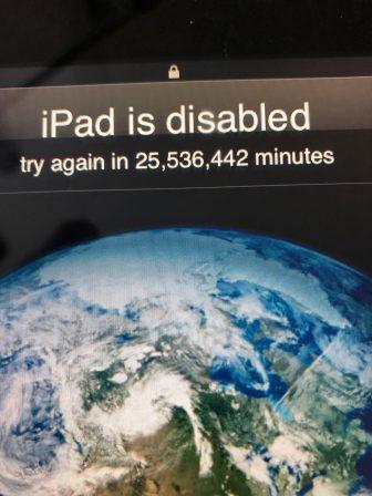 Gare aux enfants: un iPad se retrouve bloqué jusqu'à 2068! 2