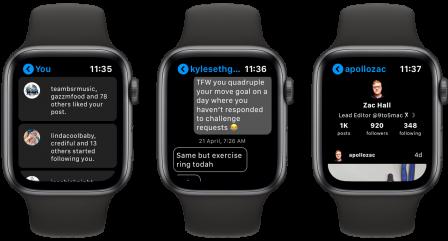 Lens: l'app qui affiche Instagram au poignet sur l'Apple Watch 3