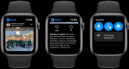 Lens: l'app qui affiche Instagram au poignet sur l'Apple Watch 2
