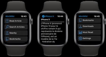 Tout Wikipedia au poignet et ça tient! Voici MiniWiki pour Apple Watch 2