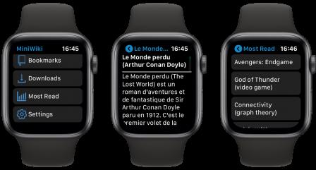 Tout Wikipedia au poignet et ça tient! Voici MiniWiki pour Apple Watch 3