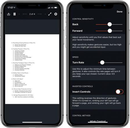 PageTurn: tourner les pages d'une partition avec la reconnaissance faciale sur iPhone, iPad 2