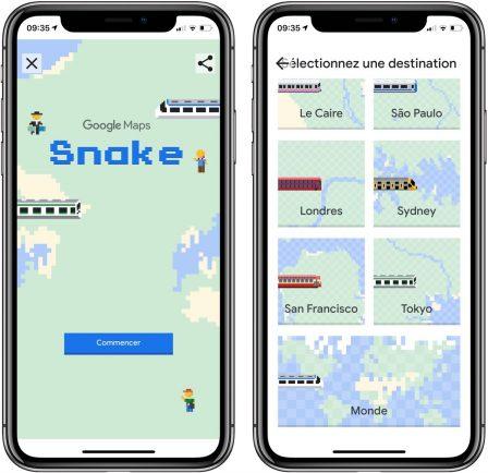 Le jeu classique Snake a envahi Google Maps: comment jouer sur iPhone 3