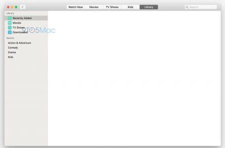 Premières captures d'écran des nouvelles applis Music et TV pour Mac, avant la conférence de lundi 3