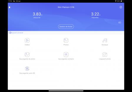 Test du nouveau FileHub de RavPower: lecteur de clé USB sans-fil, routeur, transfert de données, etc. 6
