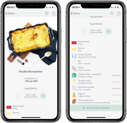 Appetia: tout nouveau moteur d'idées de recettes de cuisine sur iPhone et iPad 5