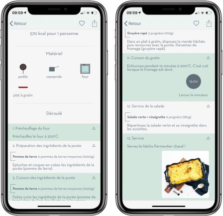 Appetia: tout nouveau moteur d'idées de recettes de cuisine sur iPhone et iPad 6