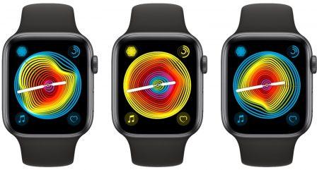 Avec watchOS 5.2.1, des nouveautés pour le cadran arc-en-ciel des Apple Watch 3