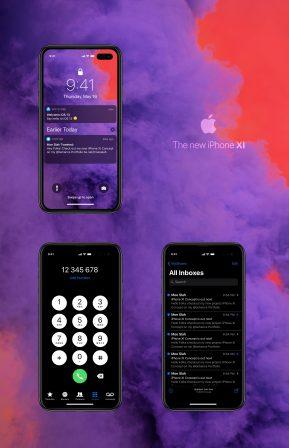 """Et si de prochains iPhone abandonnaient la découpe écran pour un """"trou"""" : concept en images 3"""