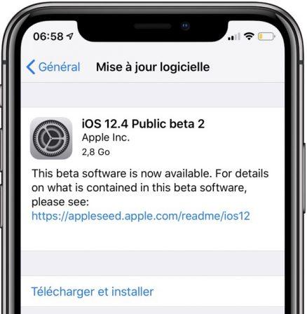 Sortie de la beta 2 iOS 12.4 iPhone et iPad, également en beta publique (MàJ) 3