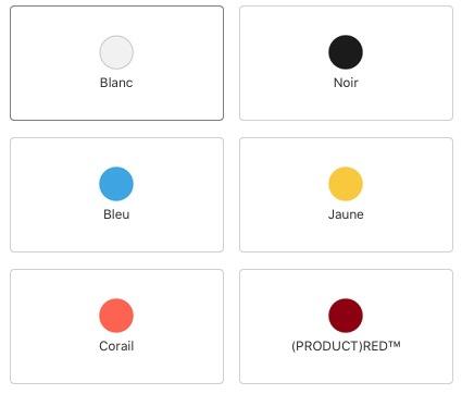 Rumeur: l'iPhone XR 2019 toujours proposé en 6 couleurs, mais 2 changent 1