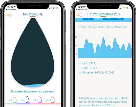Test d'Hydrao Aloé : le pommeau de douche connecté français qui fait économiser eau et énergie! 14
