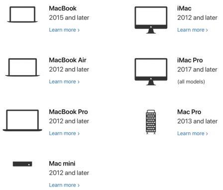 Quel Mac pour pouvoir utiliser macOS Catalina en 2019? 2