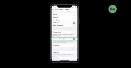 De toutes nouvelles fonctions d'accessibilité avec iOS 13: pour daltoniens et autres difficultés 4