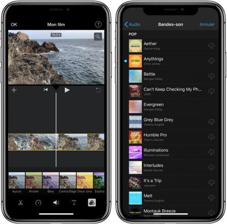 Nouvelle version d'iMovie sur iPhone et iPad  avec notamment le support des «fonds verts» 2