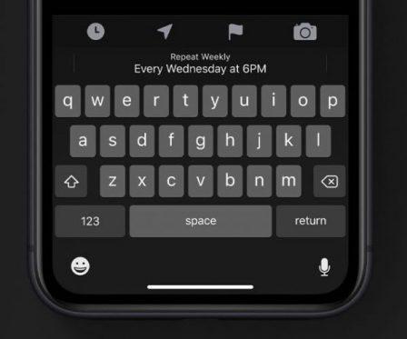 Du nouveau pour le clavier virtuel iOS 13: saisie par glissement de doigt, barre d'outils et plus 4