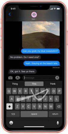 Du nouveau pour le clavier virtuel iOS 13: saisie par glissement de doigt, barre d'outils et plus 2